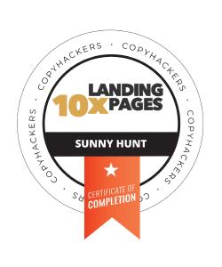 Sunny Hunt Copyhackers 10X LandingPages