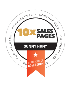 Sunny Hunt Copyhackers 10X Sales Pages
