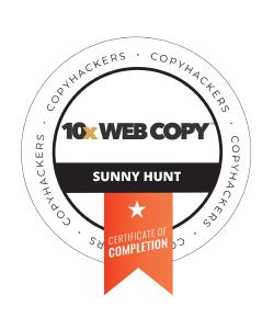 Sunny Hunt Copyhackers 10X Web Copy