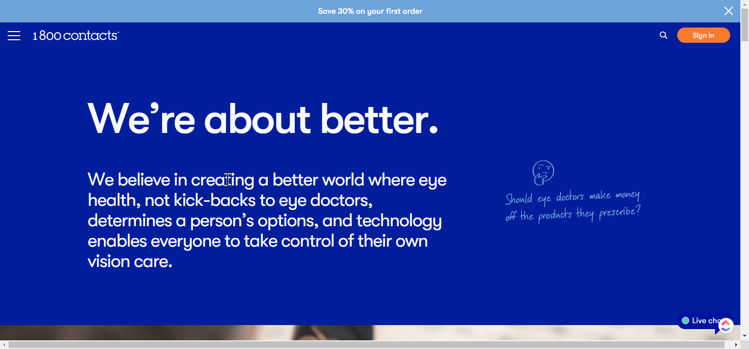 1800Contacts Mission Statement