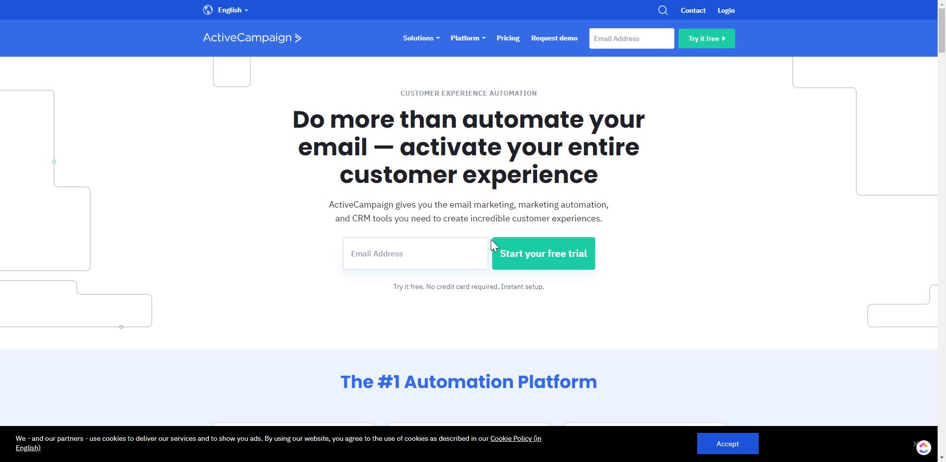 ActiveCampaign Value proposition hero