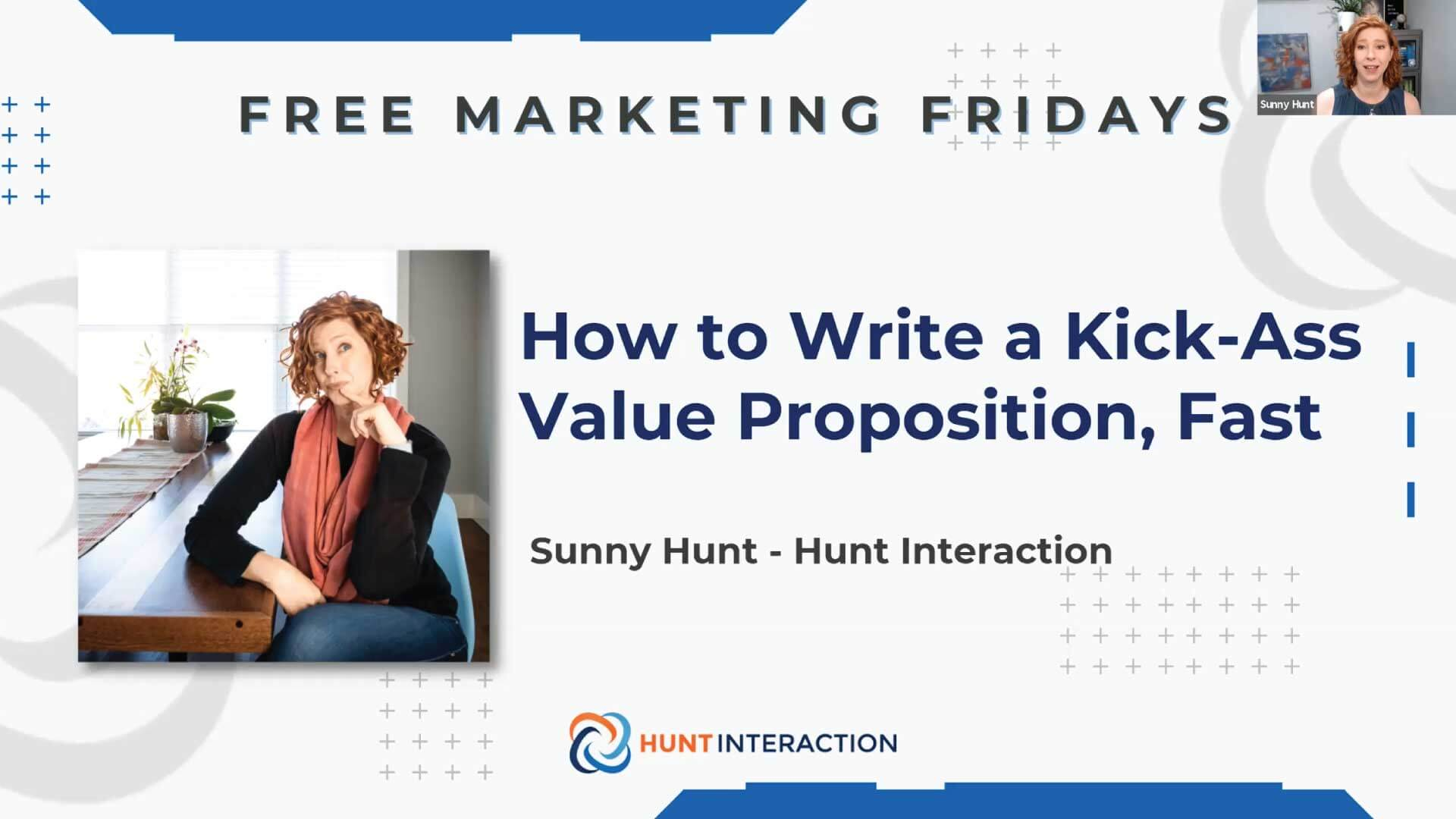 Free Marketing Friday - How to Write a Kick-Ass Value Proposition